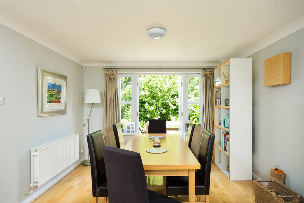 dining room opening onto garden photograph