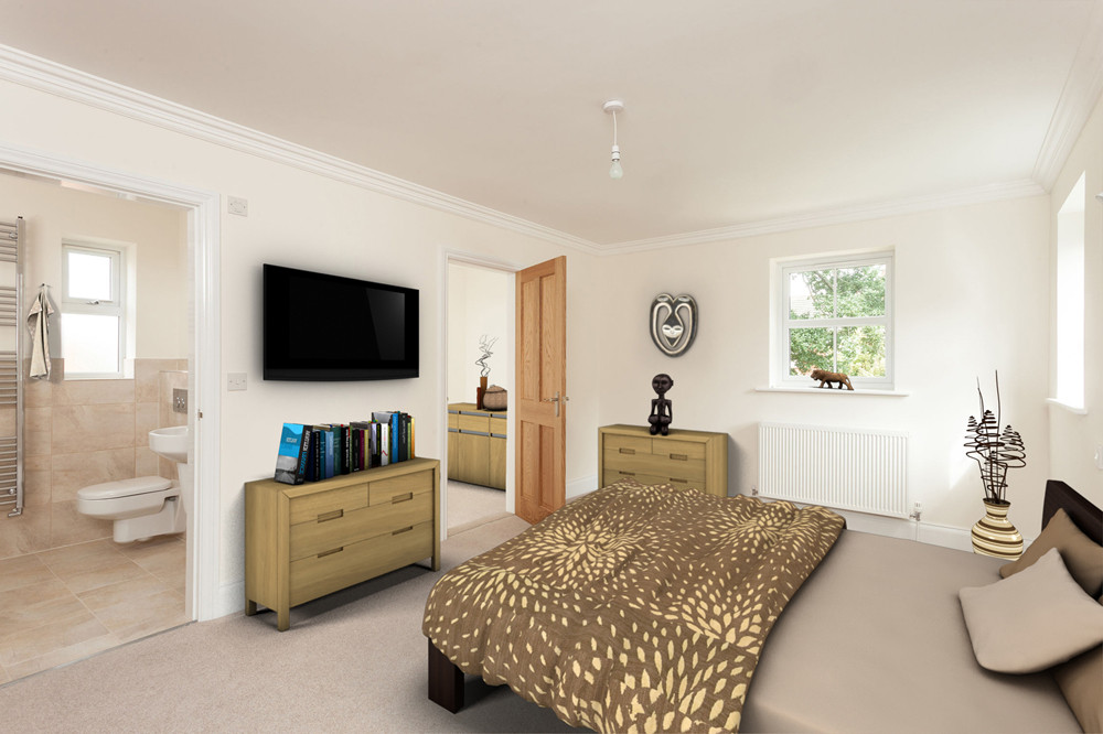 Bedroom after Virtual Staging for estate agents