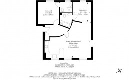 Floor plan with curved wall
