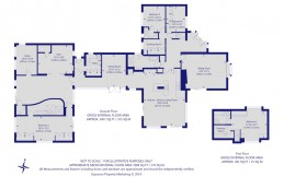Estate agent coloured floor plan