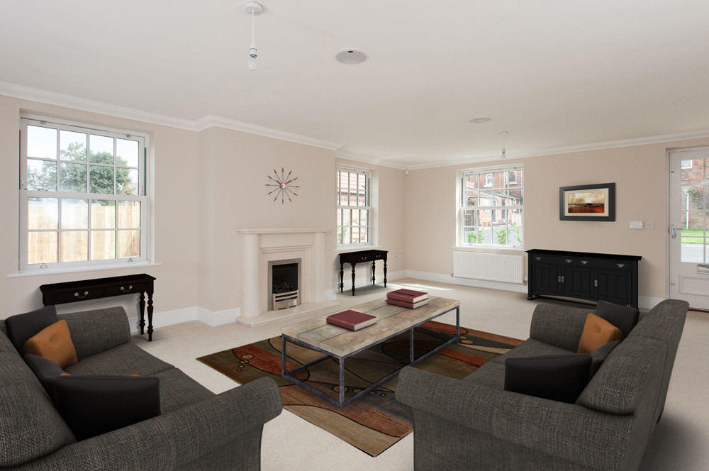 Virtual Staging Yorkshire living room property photograph