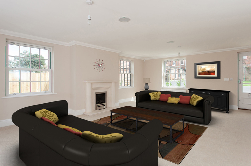 Virtual Staging York lounge property photograph