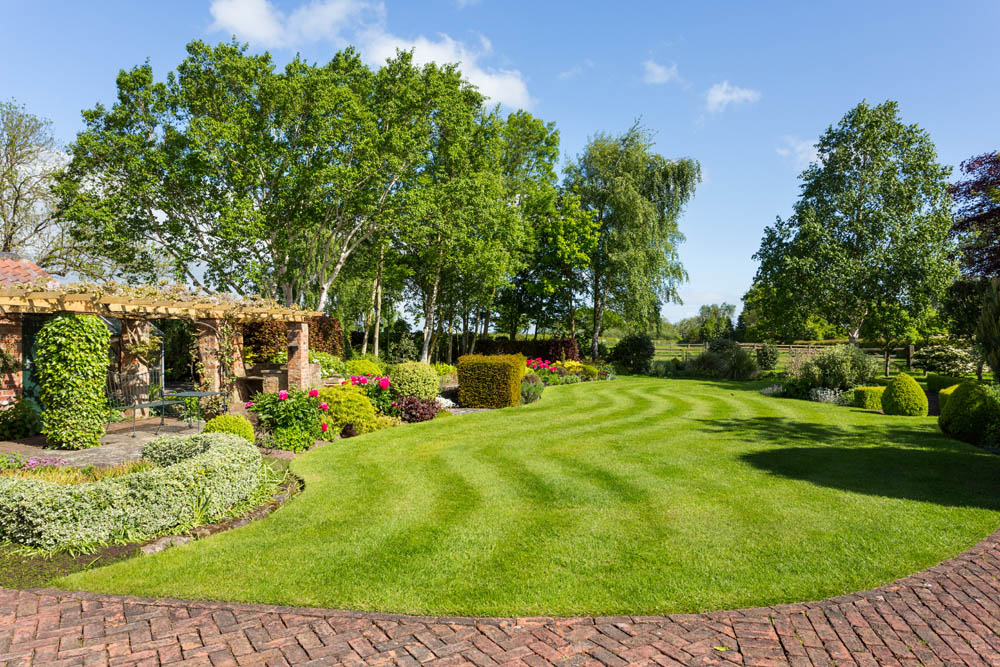 Yorkshire garden in property for sale