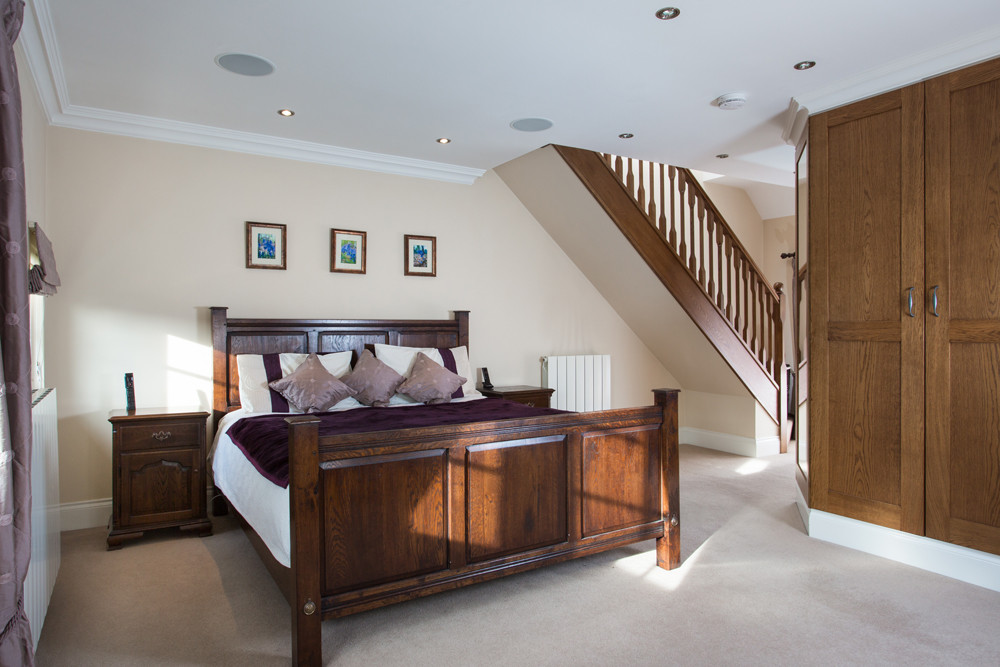 Well prepared bedroom ready for property photographer