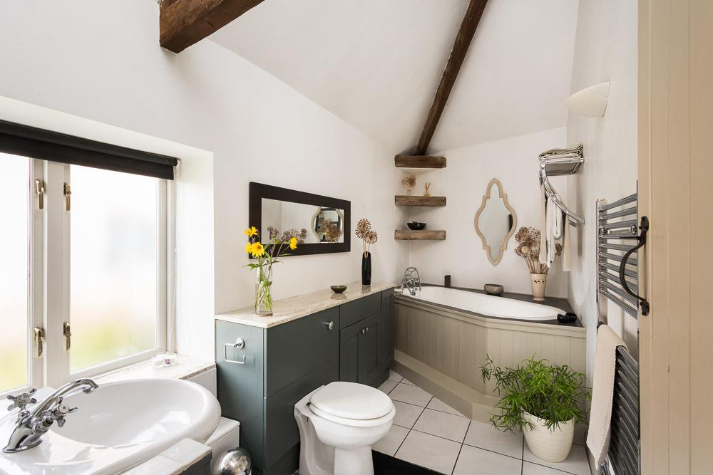 traditional barn bathroom